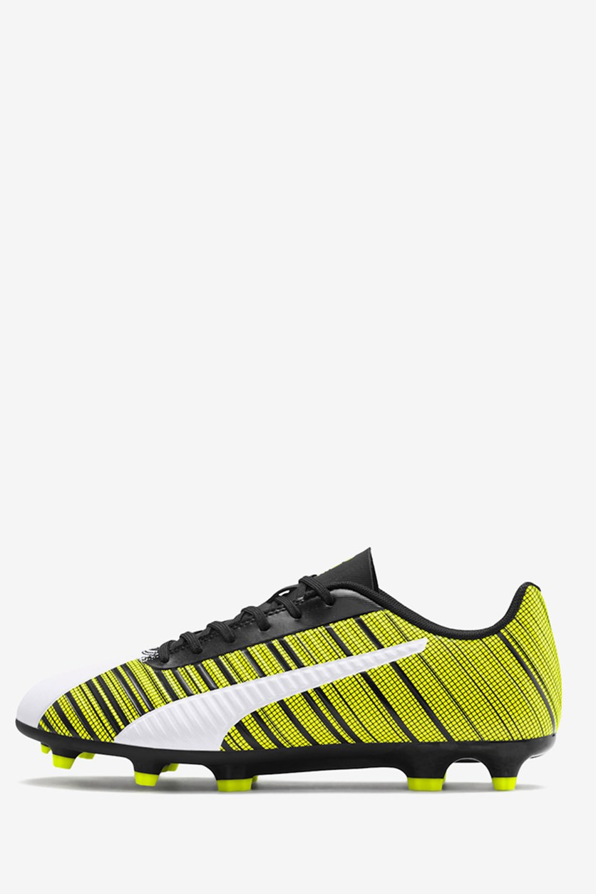 Men's One 5.4 Football Shoes, Yellow Alert/Black/White