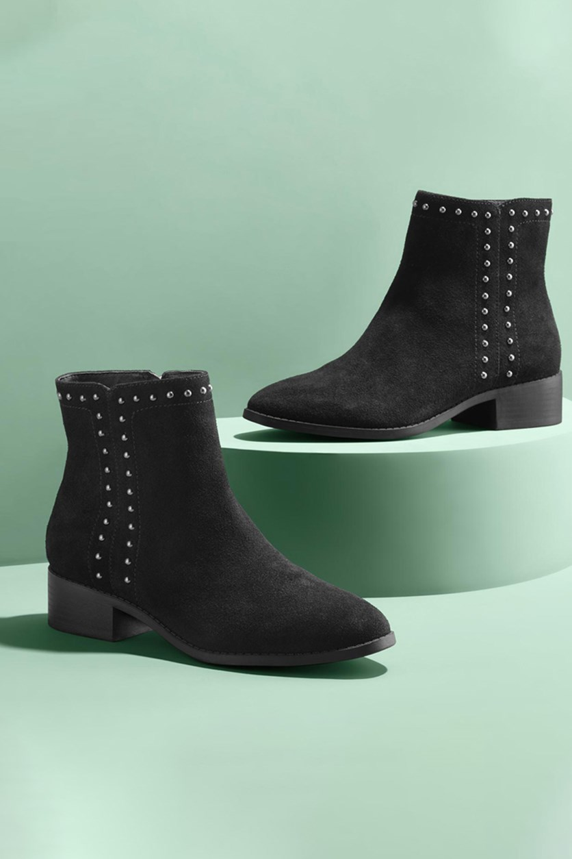 Women's Suede Boots, Black