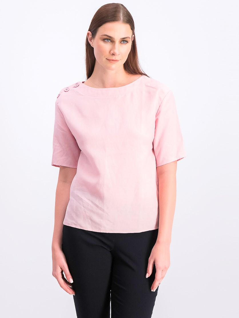 Women's Short Sleeve Top Pink