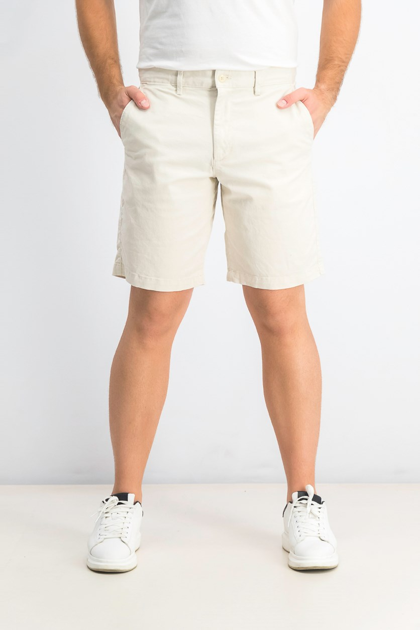 Men's Four Pocket Chino Short, Cream