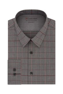 Men's Extreme Slim Fit Button-Down Shirt, Heather Grey