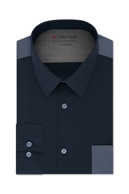 Men's Extra-Slim Fit Stretch Dress Shirt,  Navy