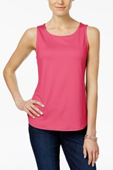Women's Jersey Sleeveless Crew Pullover Top, Pink