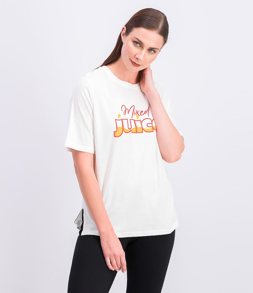 Women's Short Sleeve Graphic T-Shirt, White