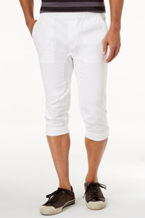 Men's Cropped Joggers, White