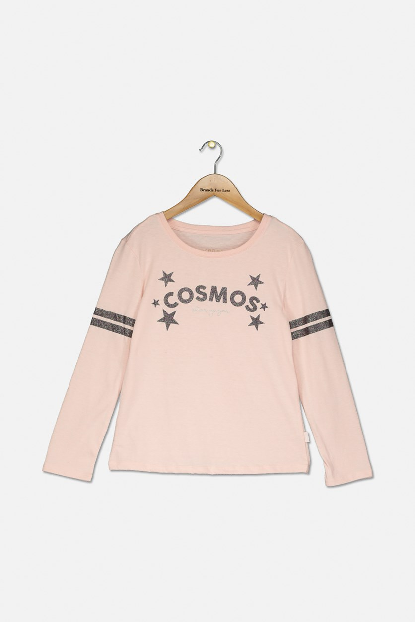 Girl Pullover Comos Stargazer Sweater, Rose Petal