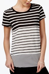 Women's Striped Short-Sleeve T-Shirt, Black/White