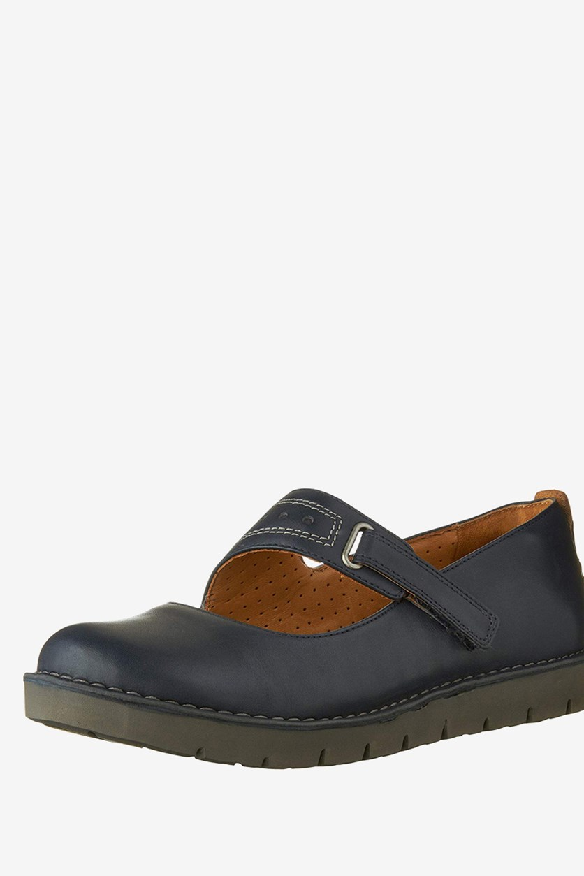 Women's Un.briarcrest Flats Shoes, Navy Leather