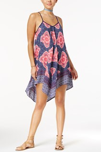 Women's Handkerchief-Hem Shift Dress, Navy
