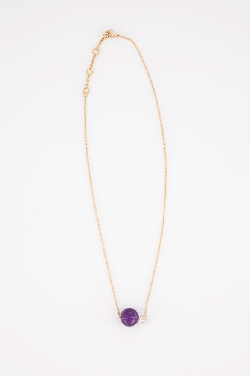 Women's Prismatic Simple Necklace, Gold