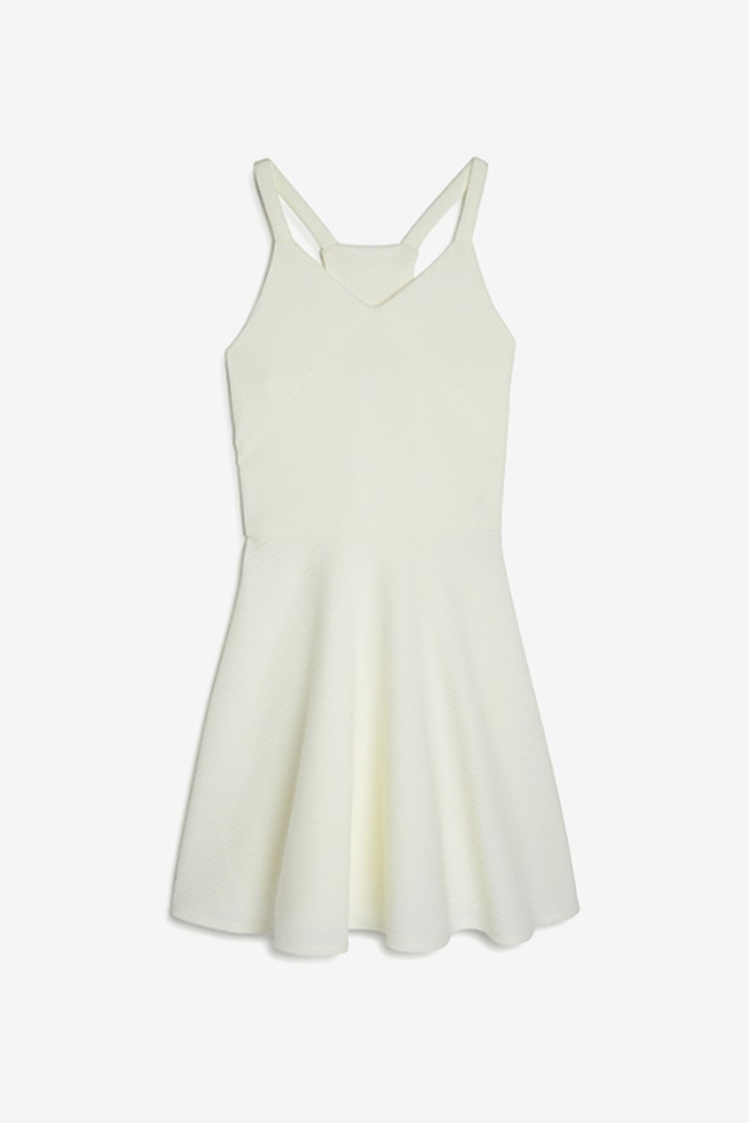 Girls' Gia Textured Racerback Dress, Vanilla