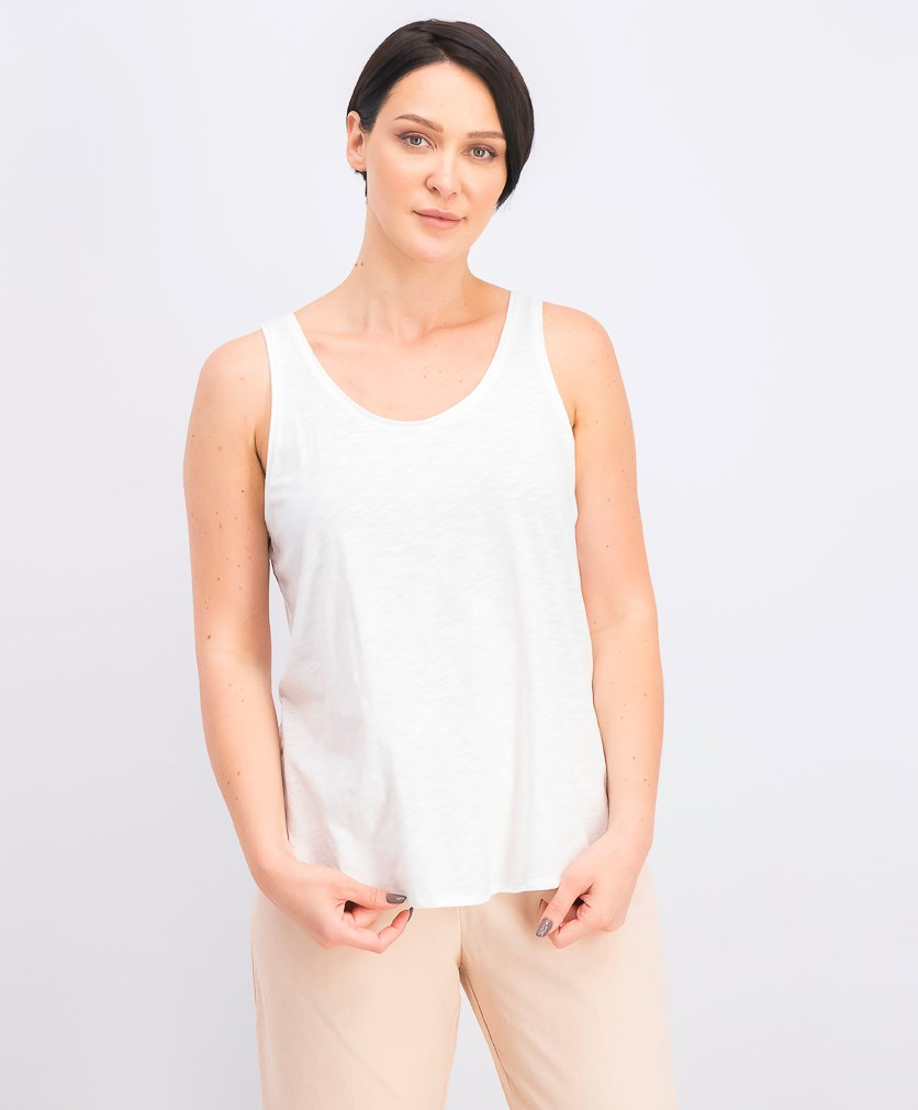 Women's Sleeveless Top, White