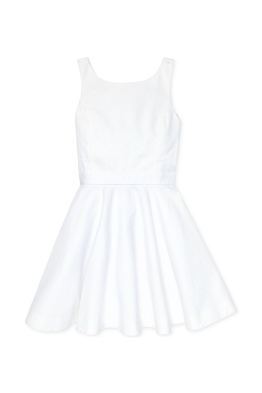 Kids Girls' Cotton Pique Dress, White