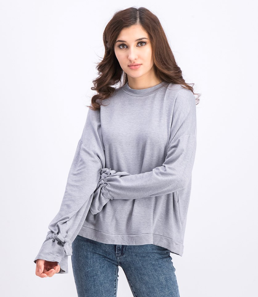 Women's Pullover Heather Sweater, Grey