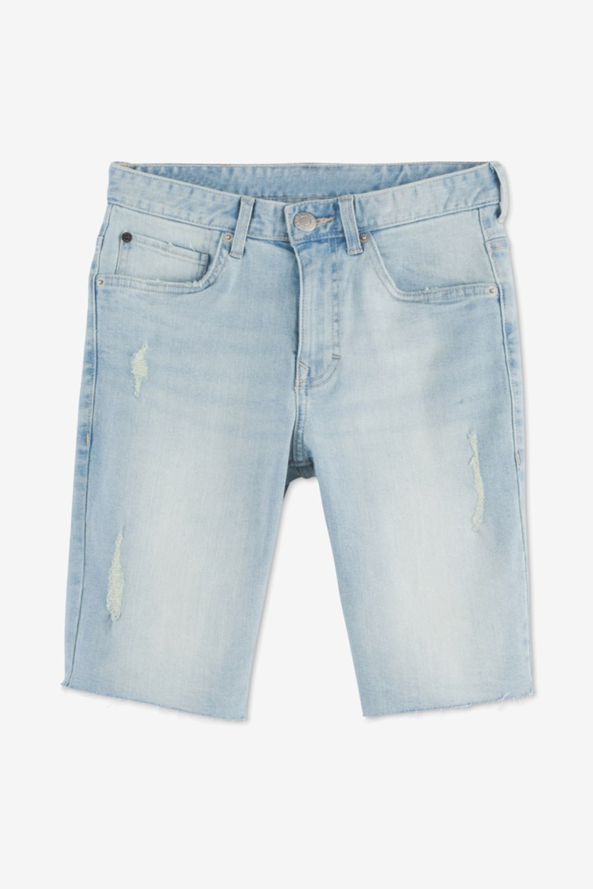 Big Boys Rip & Repair Denim Jean Shorts, Sun Wash