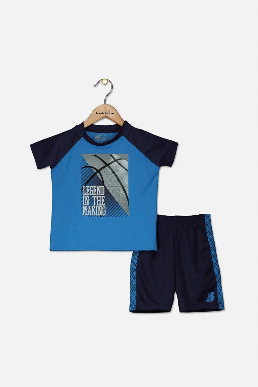 Toddler Boys' Legend In The Making Jersey Shorts Set, Blue