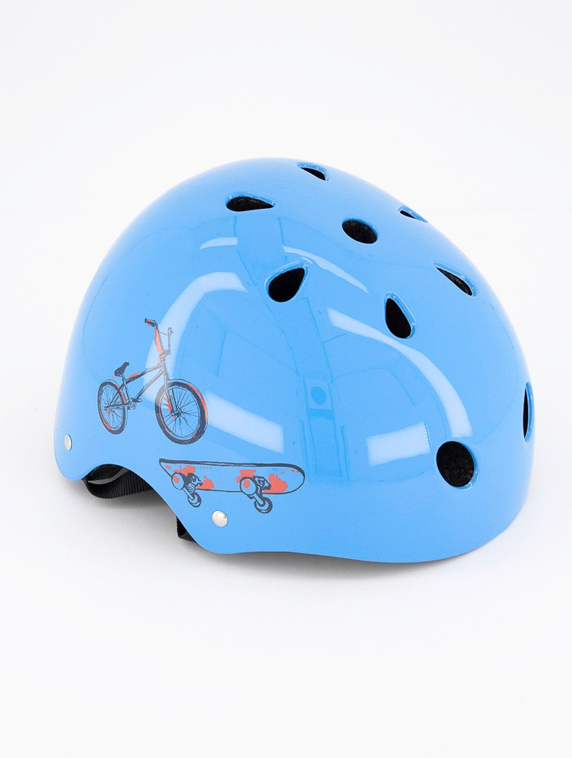 Kid Boy's Bicycle Helmet, Blue