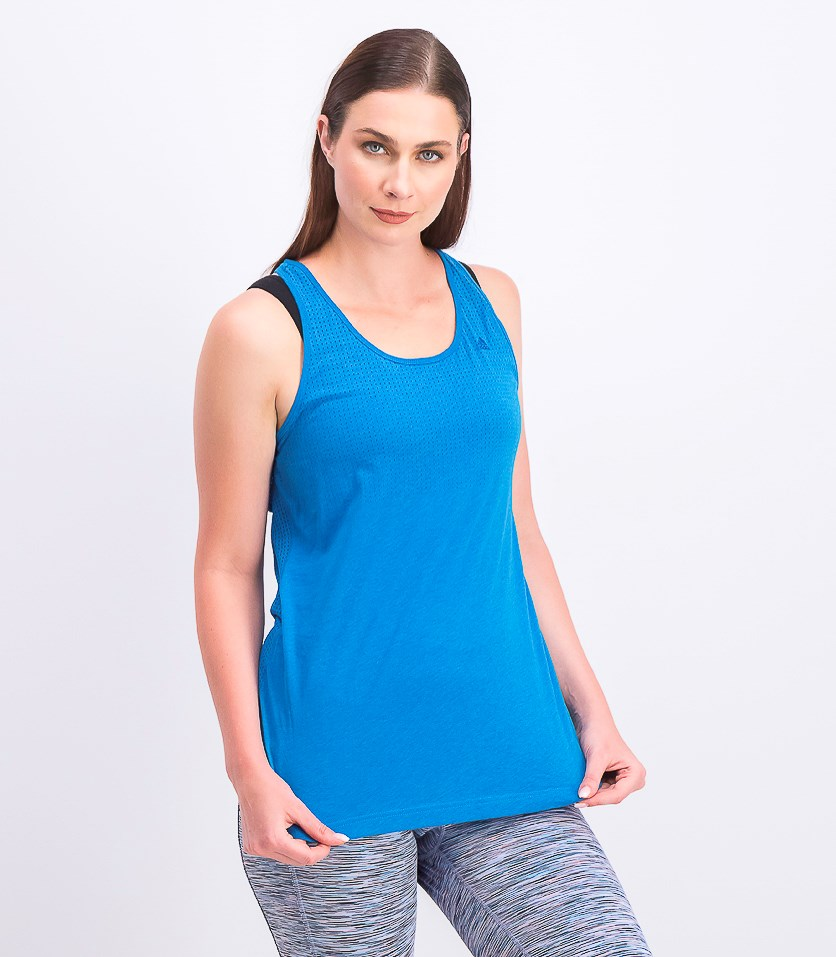 Women's Training Sleeveless Tank Top, Blue
