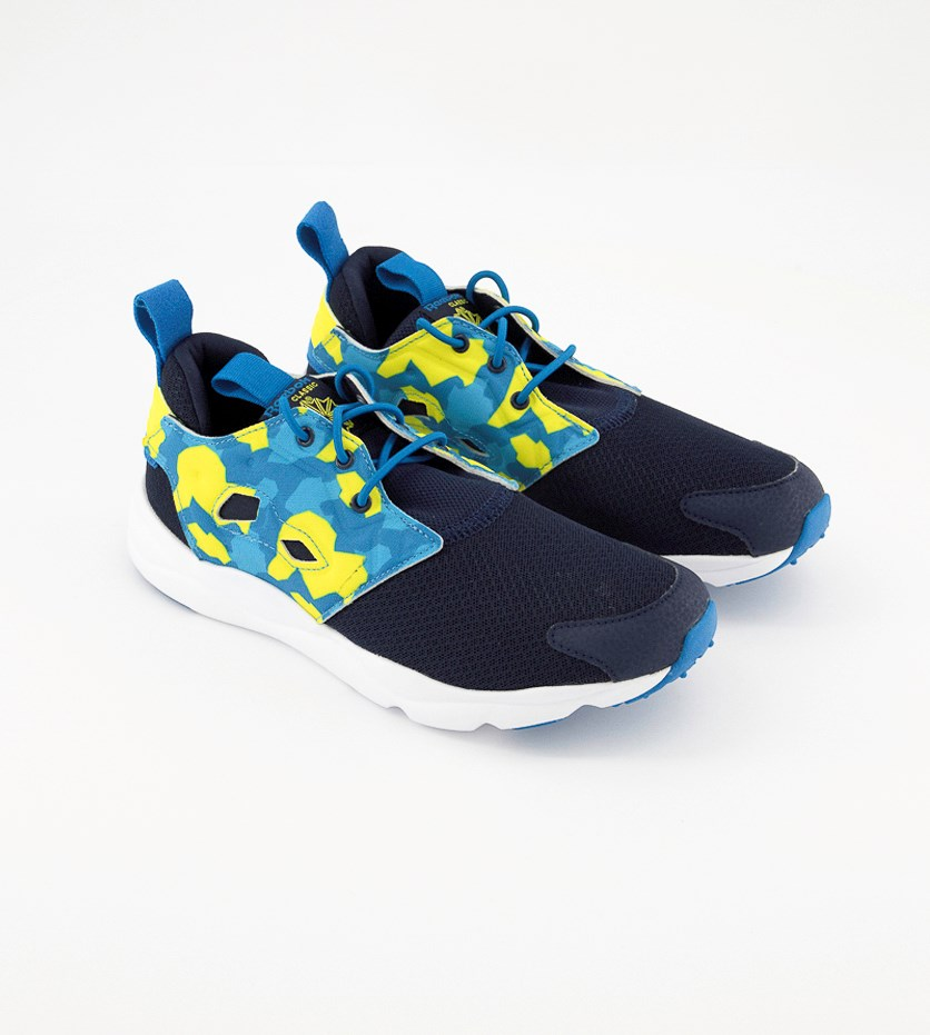 Junior Classic Shoes, Navy/Lime