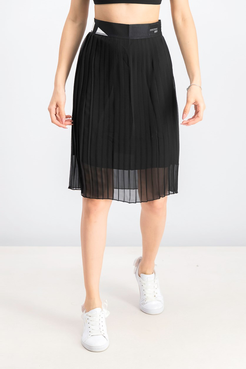 Womens Pleated Skirt, Black