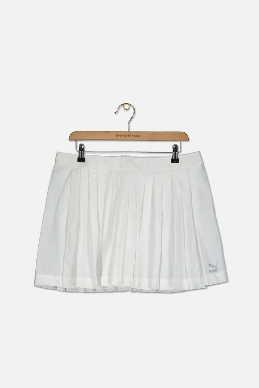 Women's Pleated Skirt, White
