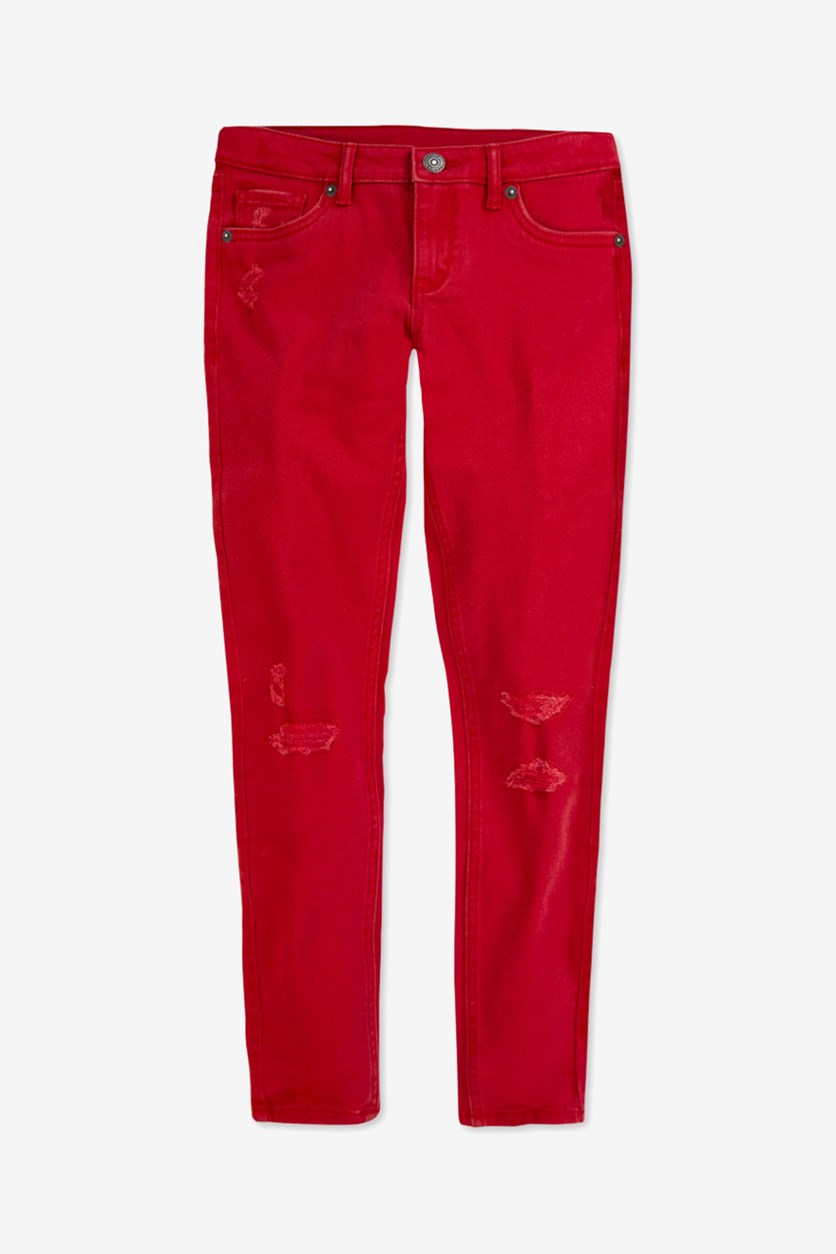 Big Girl's 710 Super Skinny Jeans, Red