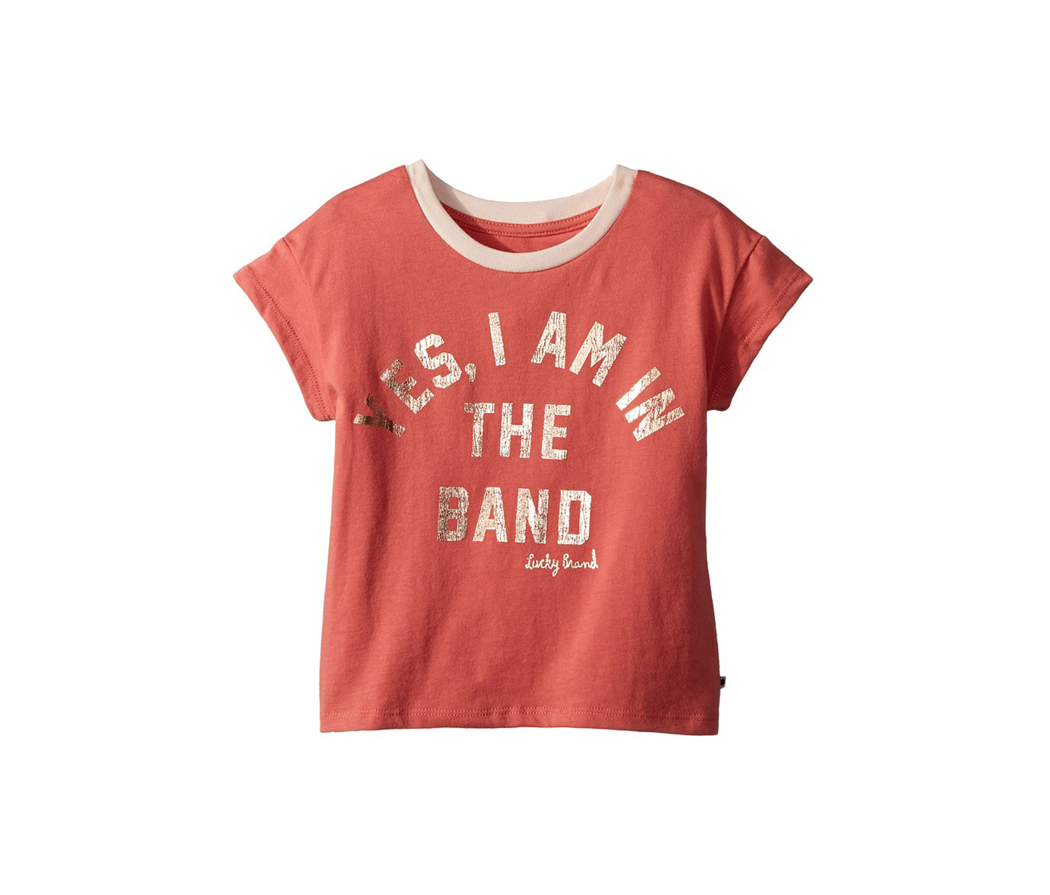 Girl's Paola Tee, Faded Pink