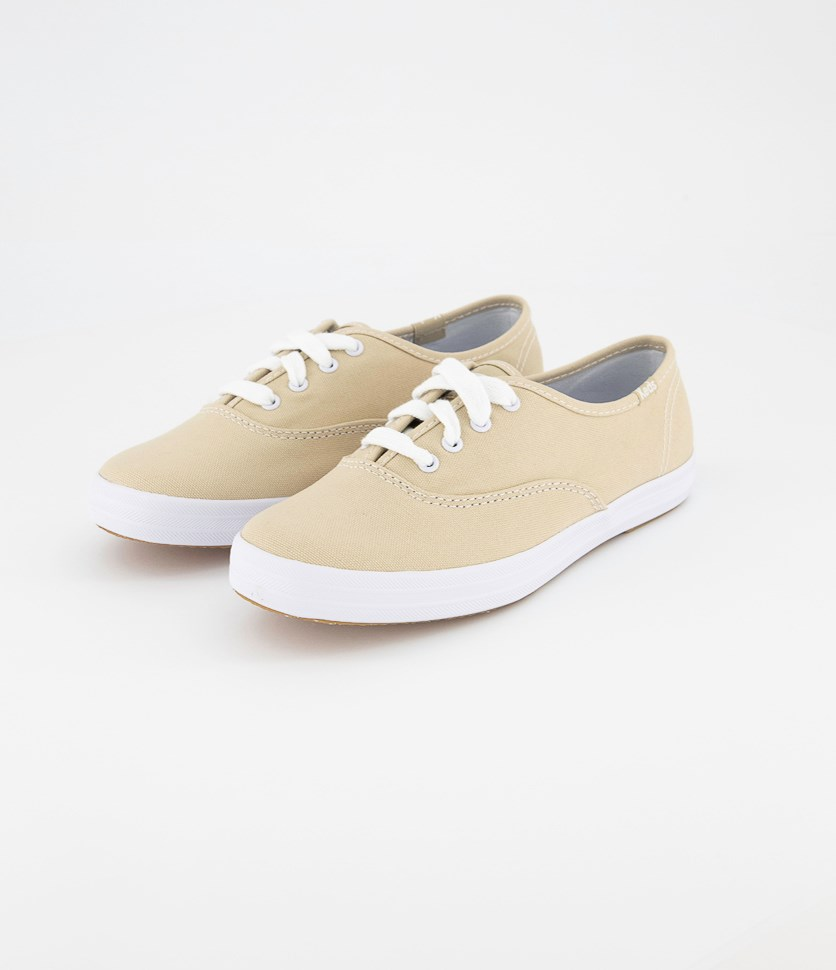 Womens Champion Stone Canvas Shoes, Cream/White