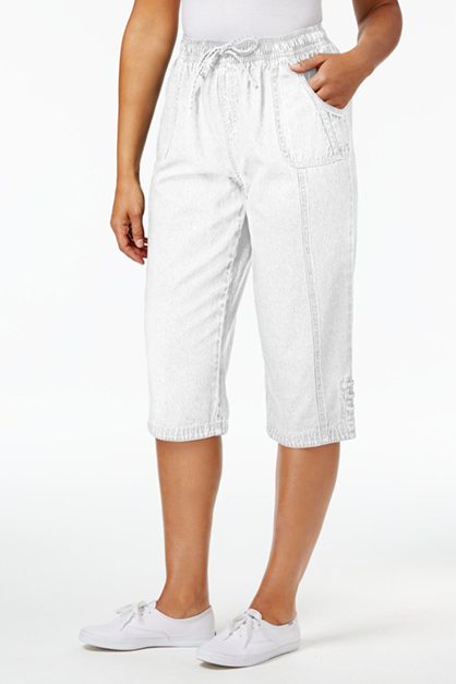 Women's Kiera Casual Bermuda Shorts, White