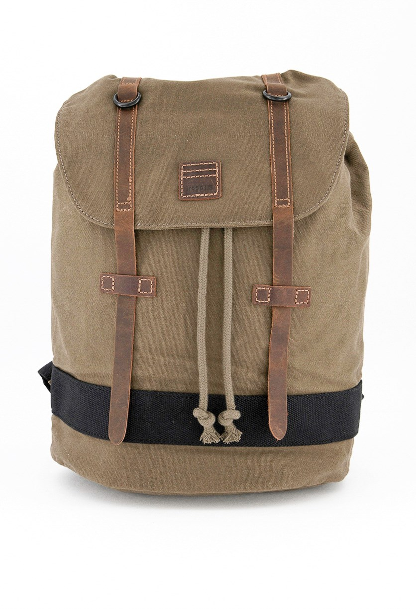 Men's Heritage Waxe Canvas Daypack Backpack, Olive