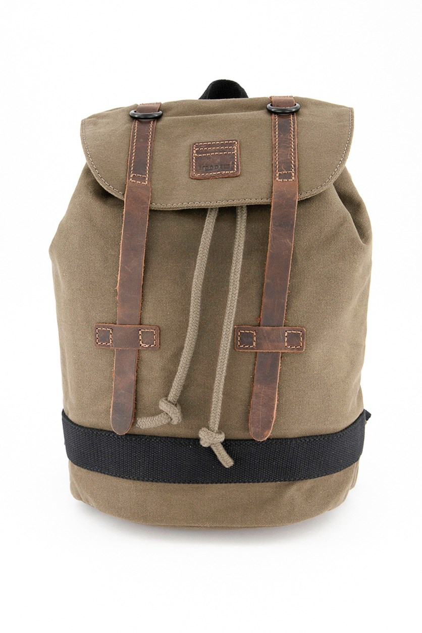 Women's Heritage Waxed Canvass Backpack, Olive