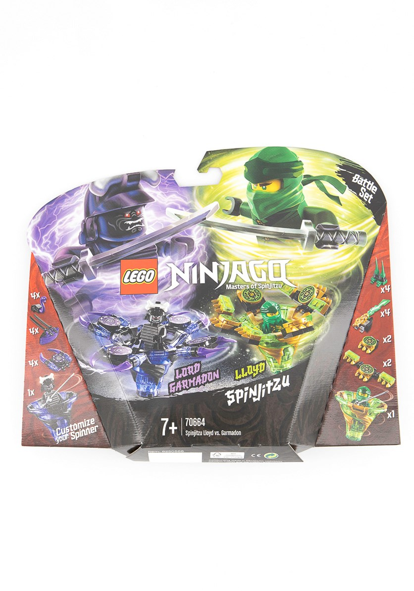 Ninjago Spinjitzu Lloyd vs. Garmadon Building Kit, Green/Purple Combo