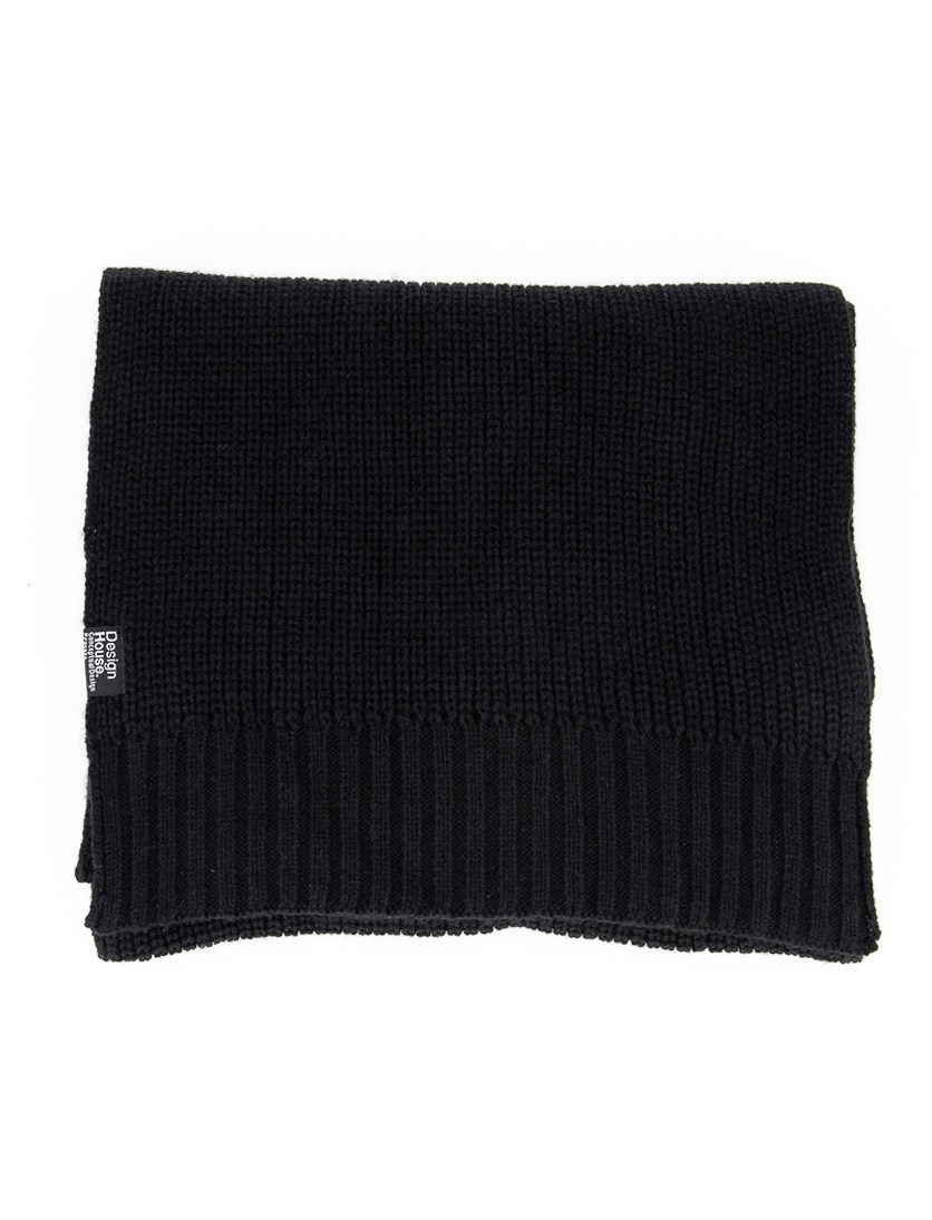 Women's Textured Scarf, Black
