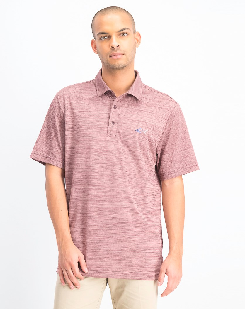 Men's 5 Iron Space-Dye Performance Polo, Port