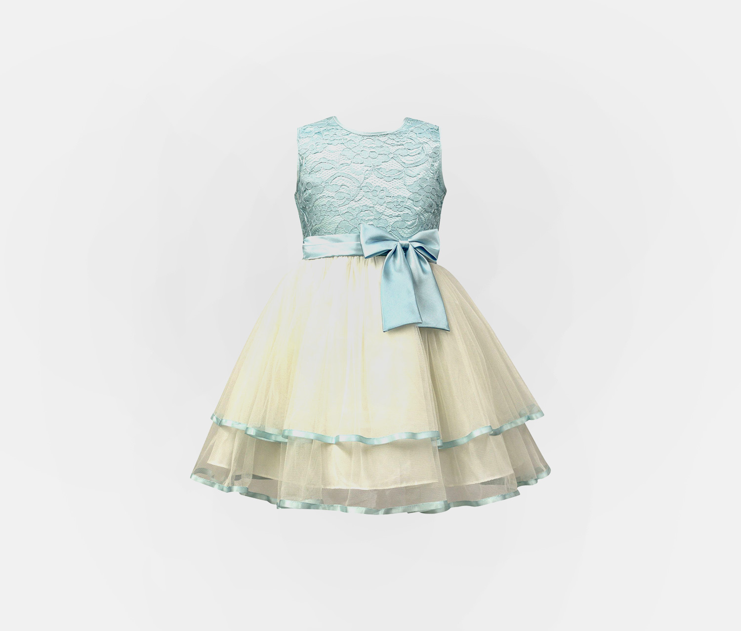 Baby Girl's Sorbet Tiered Lace & Tulle Dress, Blue