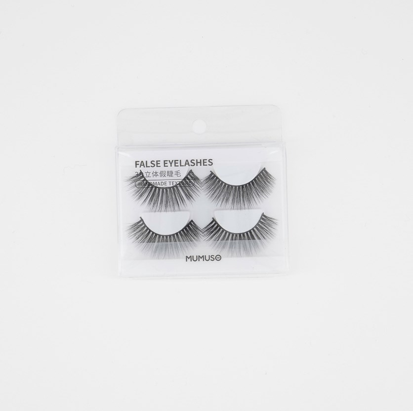 2 Pairs False Eyelashes, Black