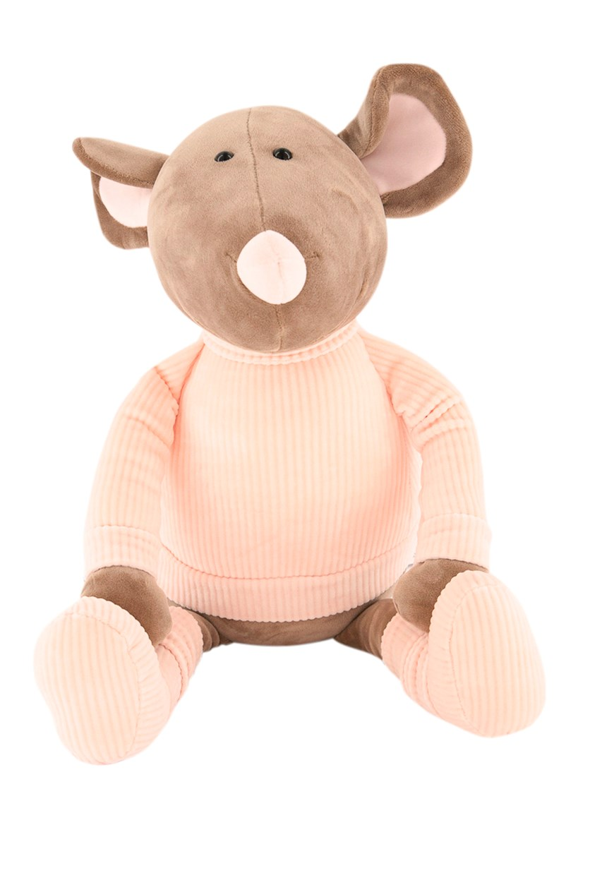 Plush Toys Mouse, Pink/Brown