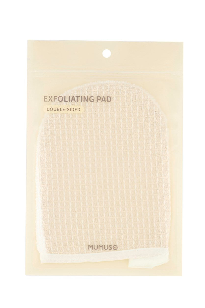 Double Sided Exfoliating Pad, Beige