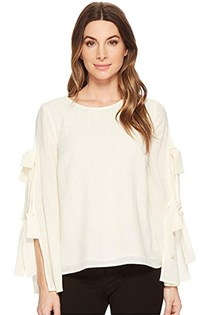 Women's Split Bell-Sleeve Blouse, Antique White