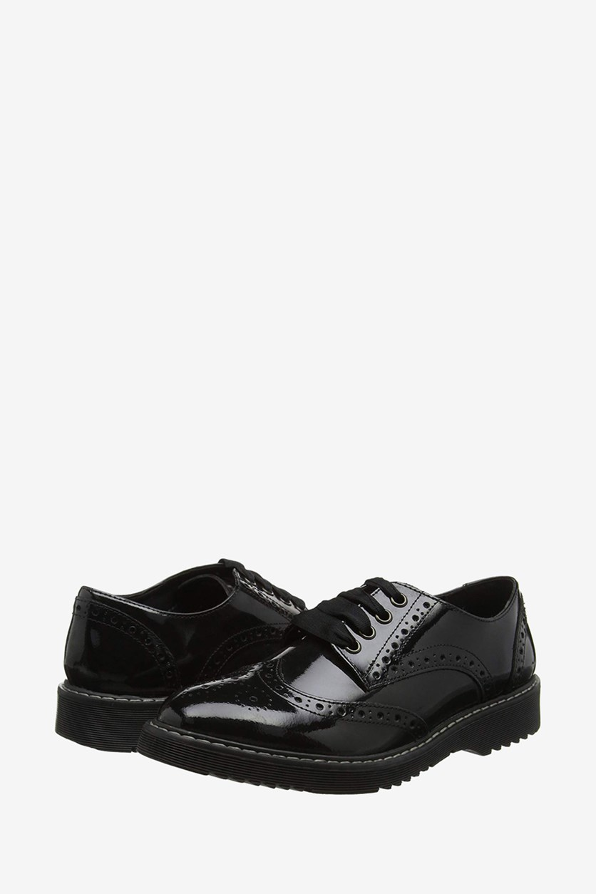 Girls' Patent Leather Shoes, Black
