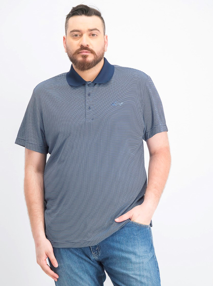 Men's Slim-Fit Jacquard Polo, Basic Navy