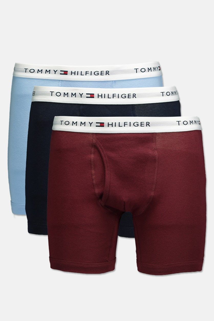 Mens 3 Pack Classic Boxer, Maroon/Blue/Navy