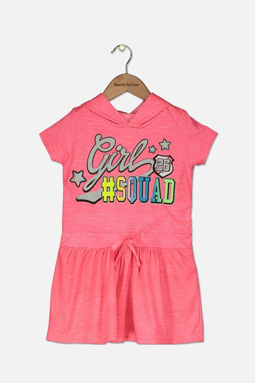 Kid Girls' Squad Neon Dress, Pink Combo