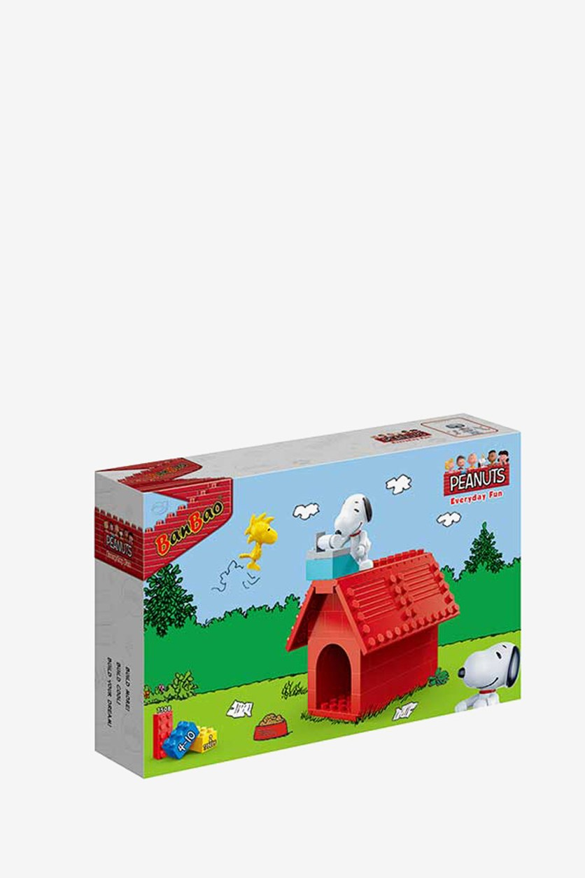 60-Piece Snoopy And Woodstock Doghouse Set 7508, Red Combo