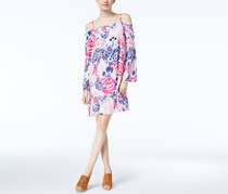 Women's Off-The-Shoulder Shift Dress, Watercolor