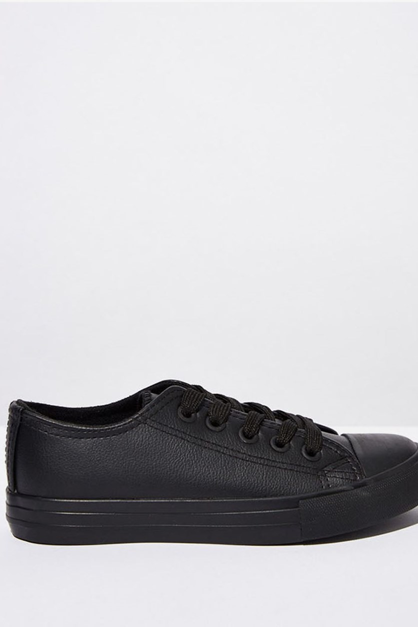 Classic Trainer Lace-up Shoes, Black