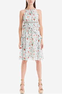 Women's Floral-Print Shift Dress, Blue