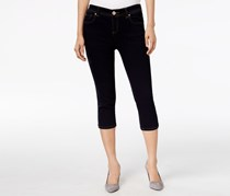 Women's Wash Cropped Skimmer Jeans, Black