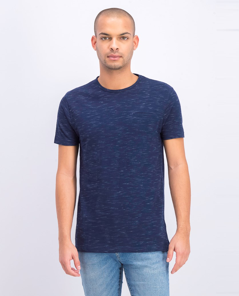 Men's Space Dye Print Shirt, Navy