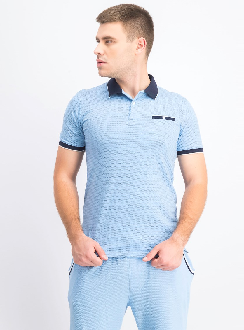 Men's Birdseye Polo Shirt, Light Blue